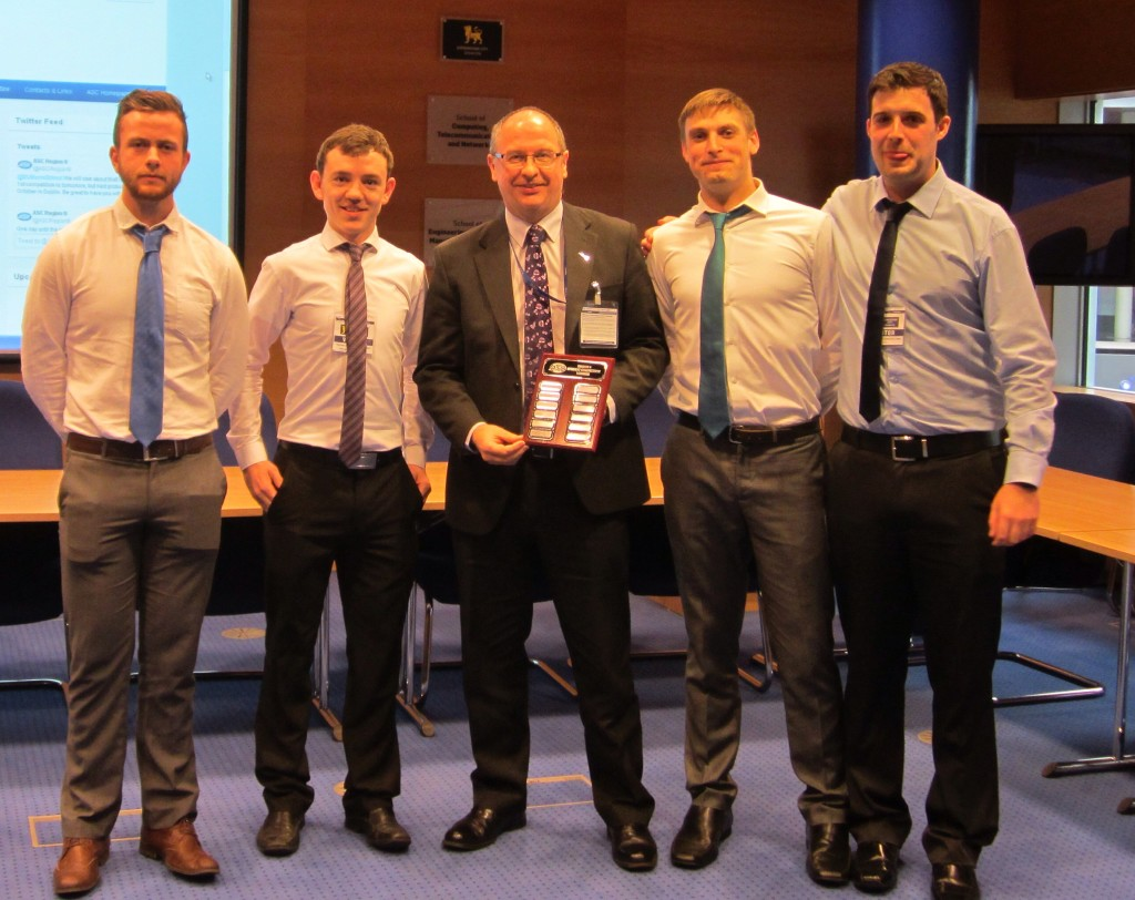 The winning team from Dublin Institute of Technology